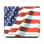 Vegan Wallet USA Flag Folded SBVL 503