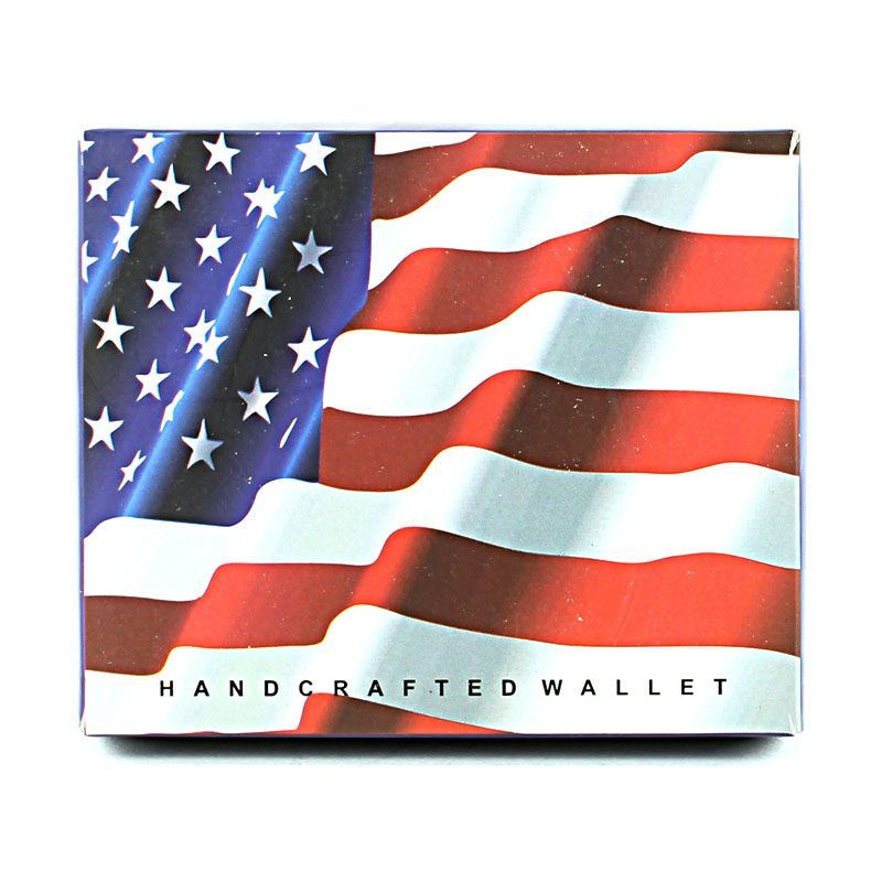Vegan Wallet USA Flag Folded SBVL 503