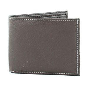 Brown Bill Fold Vegan Leather Wallet