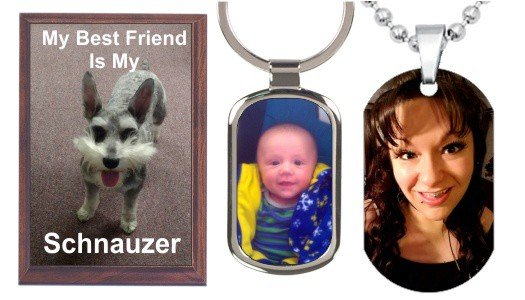 Custom Photo Gifts, Keychains, Dog Tags, Wall Plaques & More!