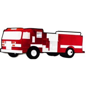 Fire Engine Acrylic Wall Decor