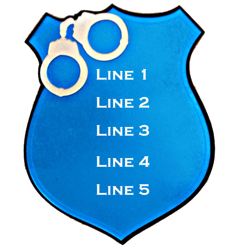 Police Shield With Line Choices