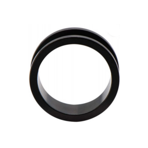 Pair of Black Matte Finish Tunnels with  Screw Fit