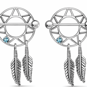 Dream Catcher Nipple Shield with Gems Stainless