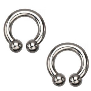 Big Horseshoes 8g 1/2″ Pair in Stainless Steel