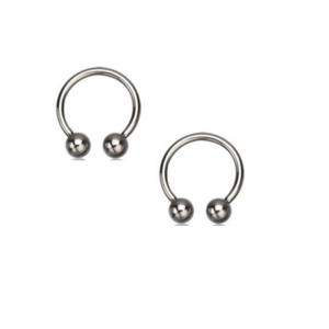 Pair of Basic Horseshoes in Surgical Steel16g