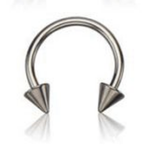 Basic Pair of Horseshoes with Spikes in Surgical Steel
