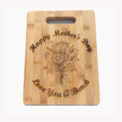 Mothers Day Cutting Board PNG