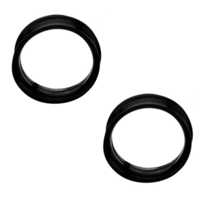 Pair of Black Silicone Tunnels with Thin Walls