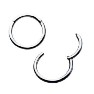 Hinged Segmented Stainless Hoop 20G