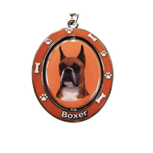 Boxer Spinning Keychain With Cropped Ears