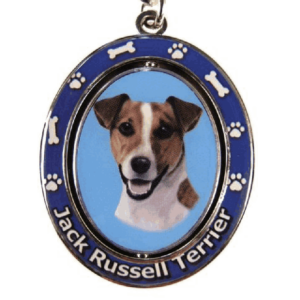 Jack Russell Terrier Spinning Keychain
