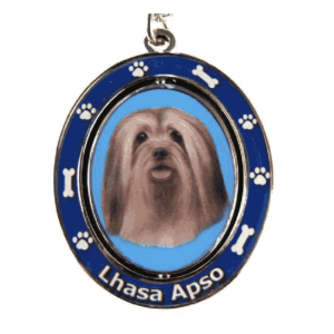 Lhasa Apso Spinning Dog Keychain