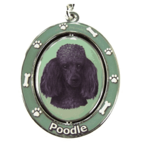 Poodle Black Coat Spinning Keychain