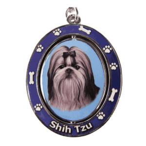 Shih Tzu Spinning Dog Keychain