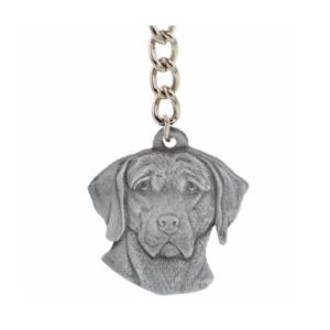 Weimaraner Pewter Dog Head Keychains