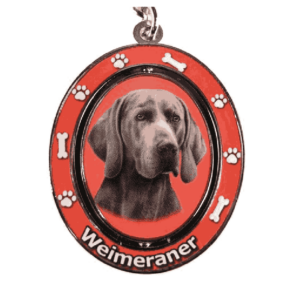 Weimeraner Spinning Dog Keychain