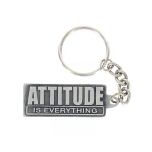 Attitude Pewter Keychain