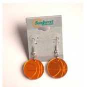 Basketball Earrings Brilliant Acrylic