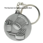 Chef Engravable Metal Keychain