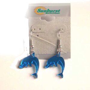 Dolphin Blue Acrylic Earrings