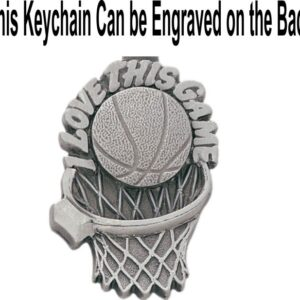 Basketball I Love This Game Pewter Keychain