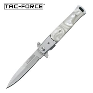 Tac-Force Spring Assisted Pearl Handle Knife