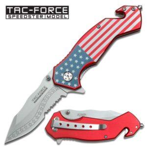 Tac-Force Spring Assisted American Flag Knife