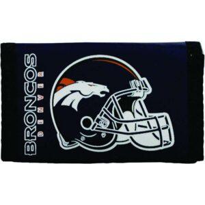 Denver Broncos Helmet Logo Nylon Trifold Wallet