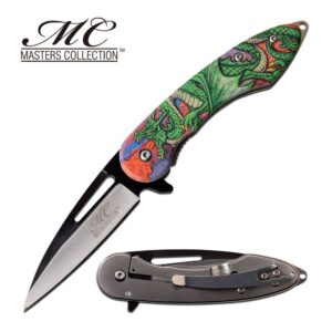 Dragon Green Coiled Spewing Fire Pocket Knife