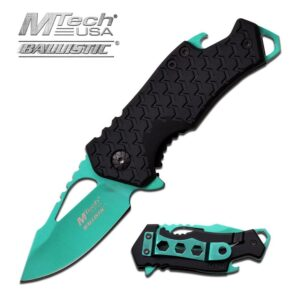 Black and Green Small Pocket Knife