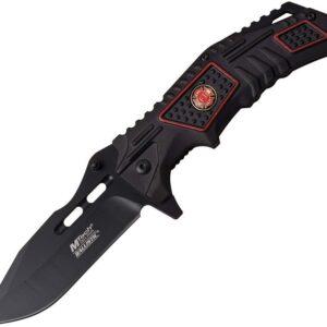 Fire Department Black with Maltese Cross Logo Pocket Knife