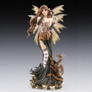 Fairy Autumnal with Orange Dragon and Crystal Ball