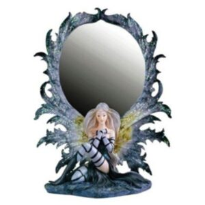 Fairy Grey Seated in Front of a Mirror