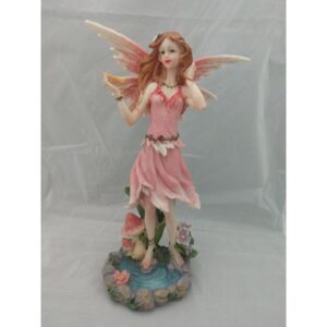 Pink Fairy with Butterfly by Pond