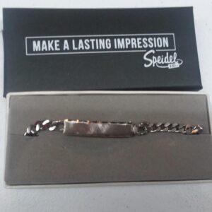 Customize a Men's Polished Silver Tone Rectangle on Id Bracelet