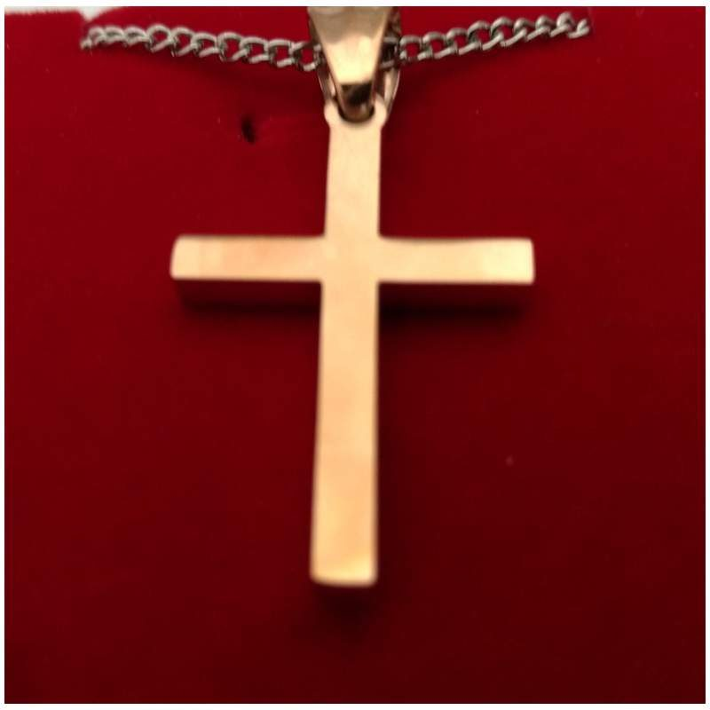 Copper Tone Stainless Cross