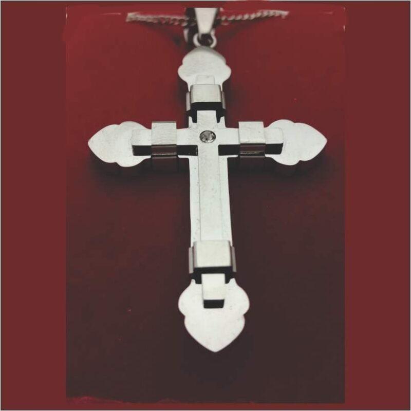 Cross With Bud Ends Overlay Cross NYLA1599 1