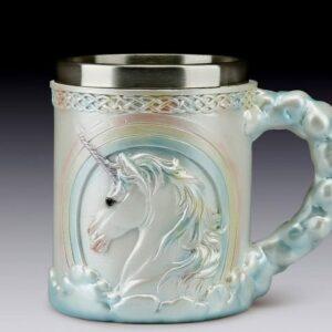 Rainbow over Unicorn Head  Mug