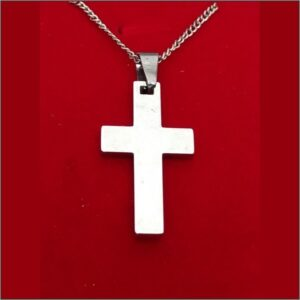 Simple Stainless Cross in Various Colors