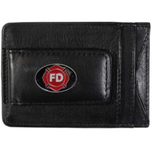 Fire Fighter Logo Leather Cash & Cardholder