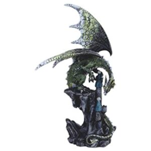 Green Toned Dragon Taking Possession of a Castle