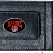Marines Leather Moneyclip & Card Holder