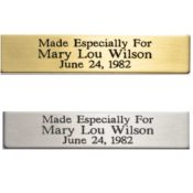 Name Plate Brass Or Silvertone 1.5 Inch X 3.375 Inch ESF2