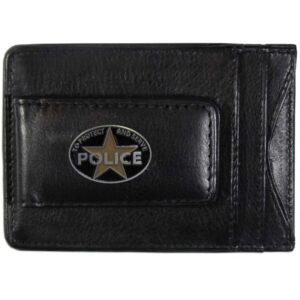 Police Protect & Serve Leather Cash & Cardholder