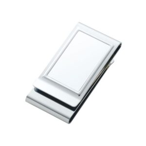 Two Money Clips in One Engravable High Polished Stainless Steel