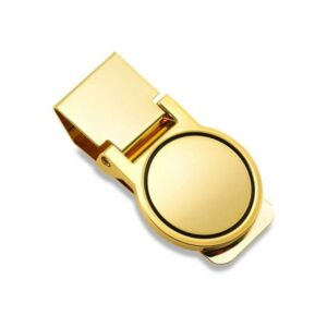 Money Clip Engravable Round Hinged Opening