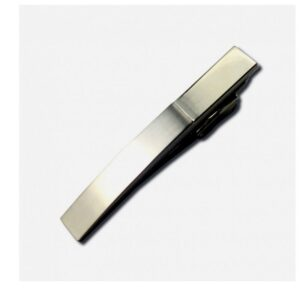 Tie Bar Engravable High Polished & Brushed Silver Tones