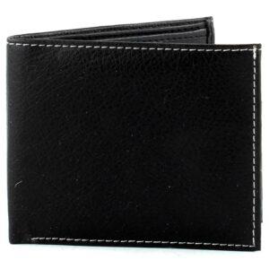 Black Bill Fold Vegan Leather Wallet