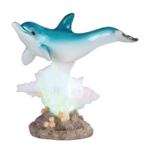 Dolphin on Coral with LED Figurine